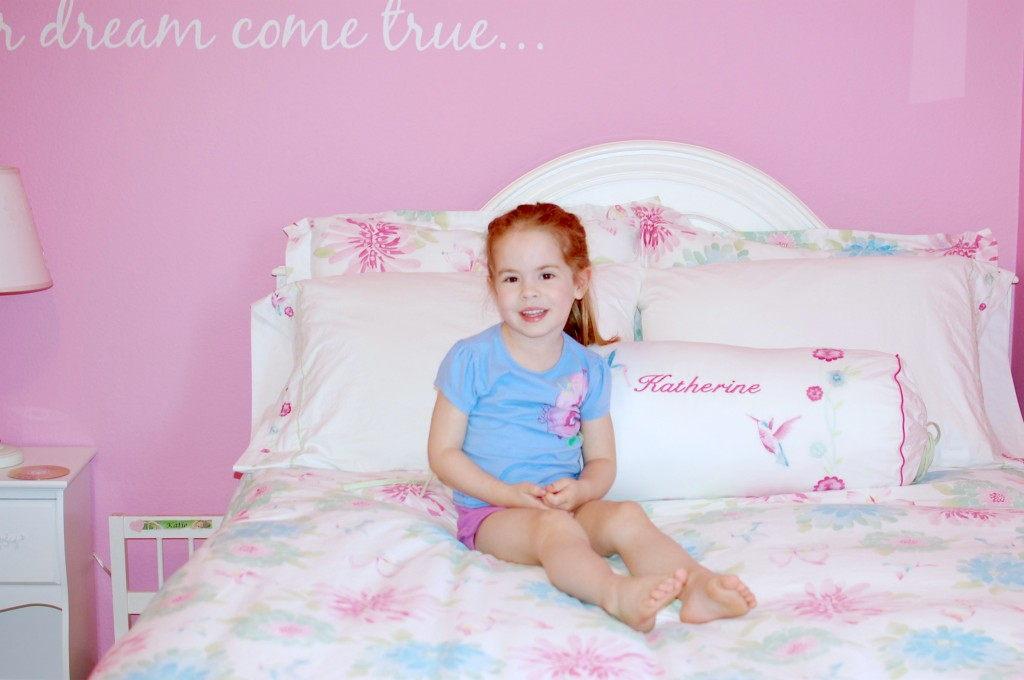 big girl bed, transitioning to big bed, pottery barn bedding, pottery barn kids