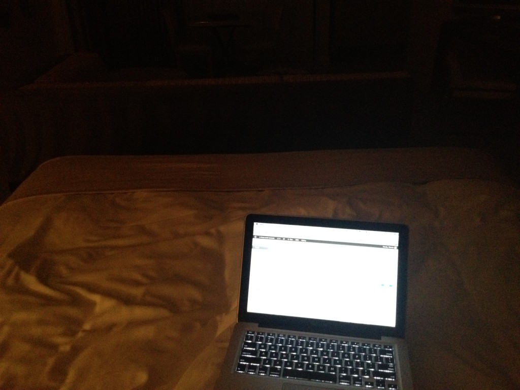 The London West Hollywood, The London West Hollywood bed, MacBook Pro