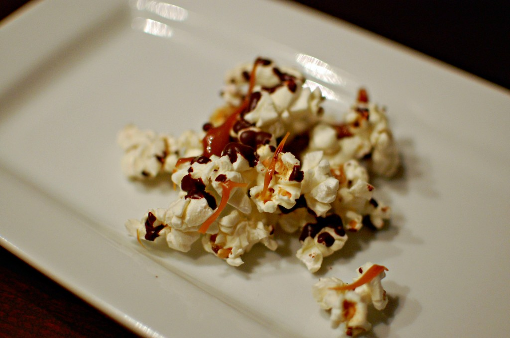 Recipe: Salted caramel and dark chocolate popcorn