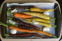 rainbow carrots, roasted carrots